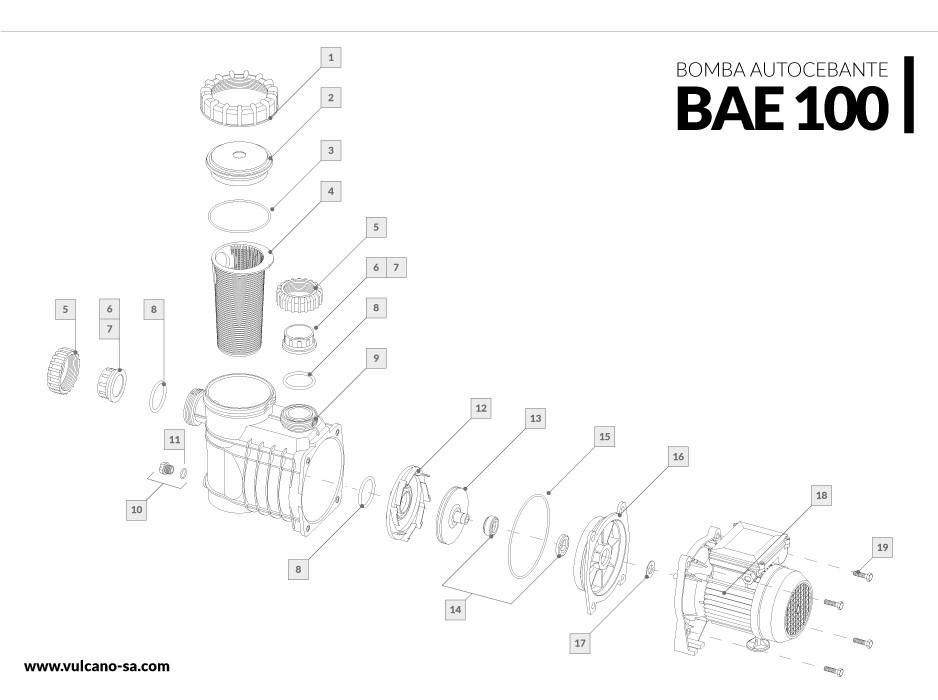 Bomba autocebante BAE 100