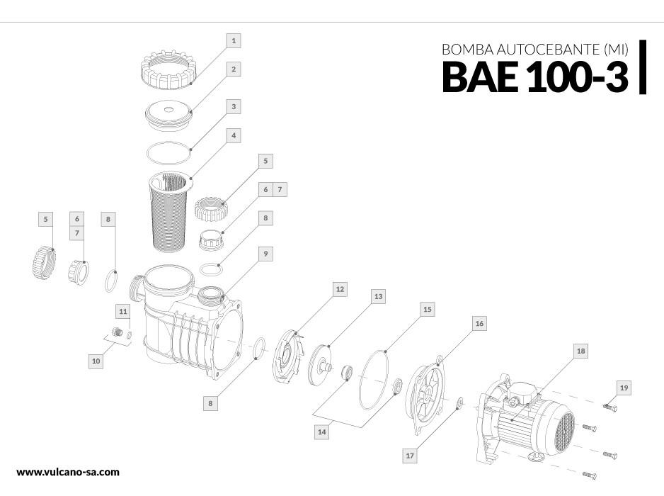 Bomba autocebante BAE 100-3