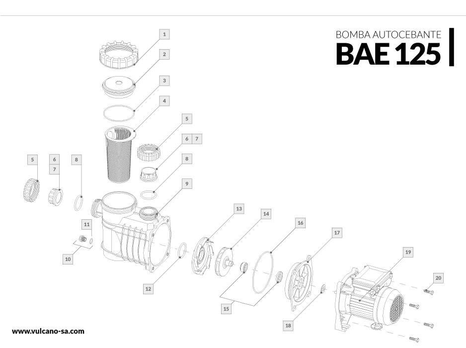 Bomba autocebante BAE 125