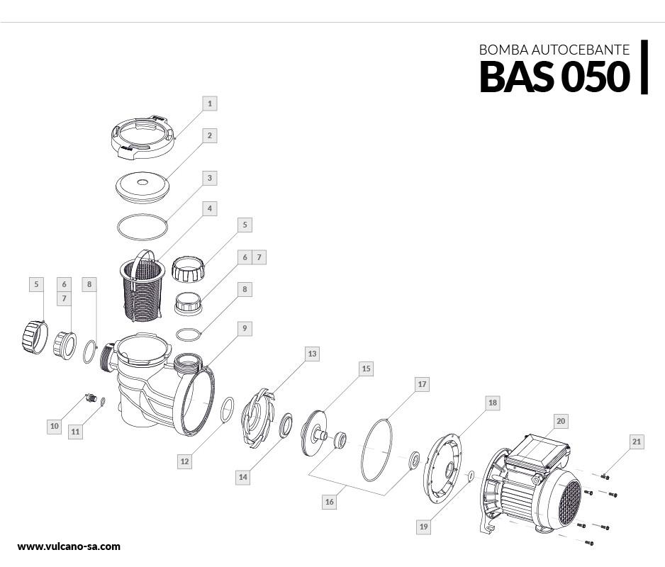 Bomba autocebante BAS 050