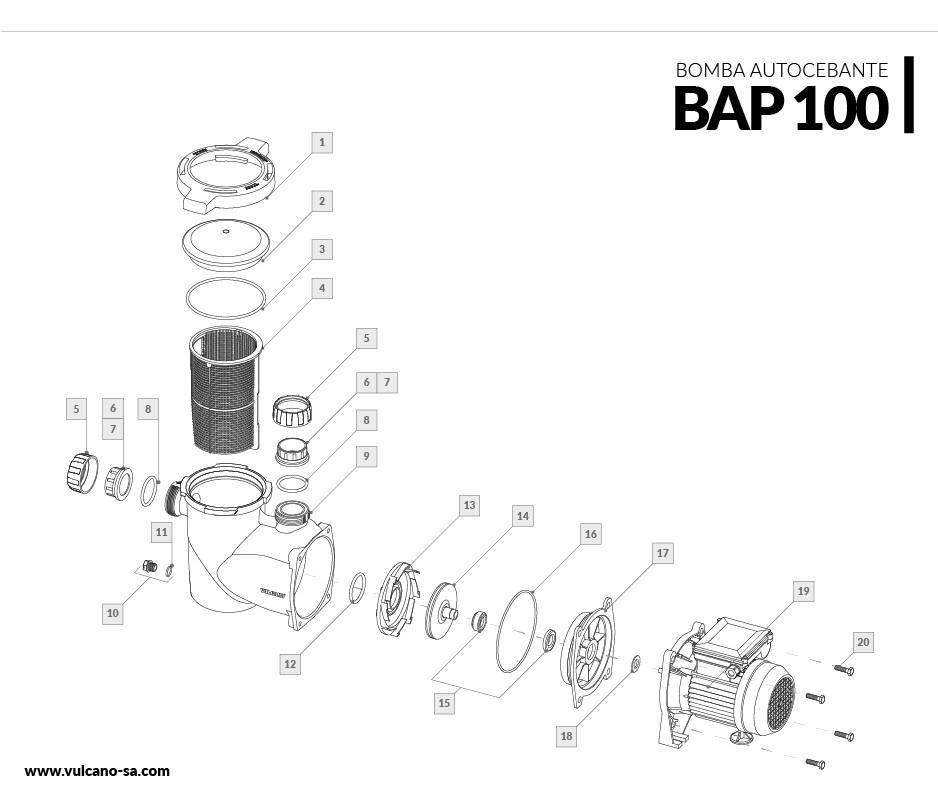 Bomba autocebante BAP 100