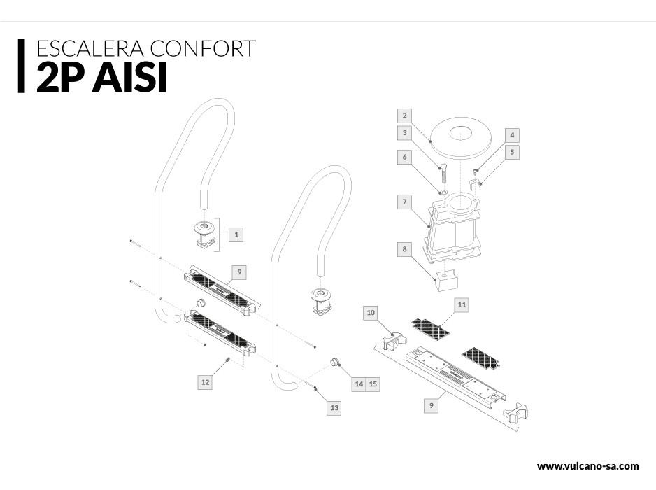 Escalera Confort 2 AISI