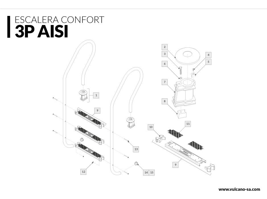 Escalera Confort 3 AISI