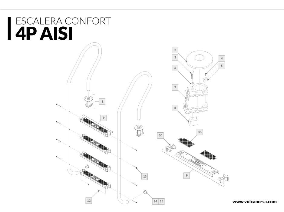 Escalera Confort 4 AISI