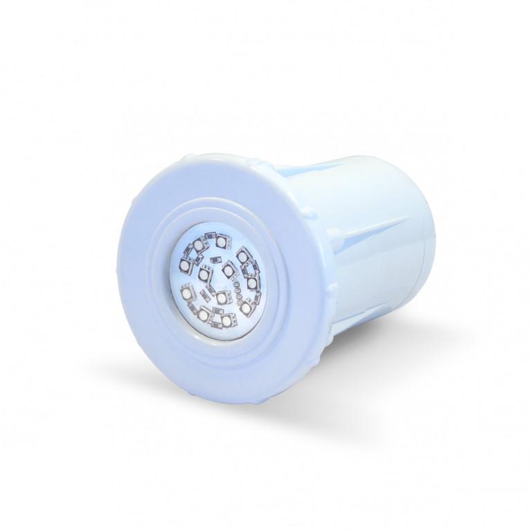 Luminaria spot blanco LED RGB-12 Horm.
