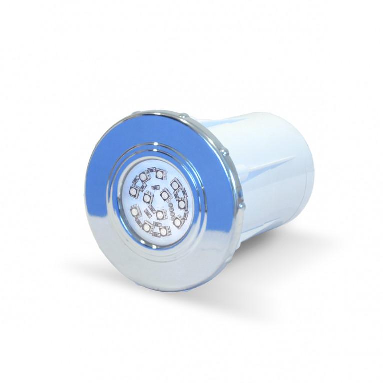 Luminaria spot cromado LED RGB-12 Horm.