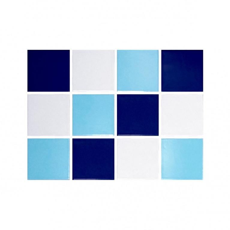 Revestimiento cerámico - Mix Azul