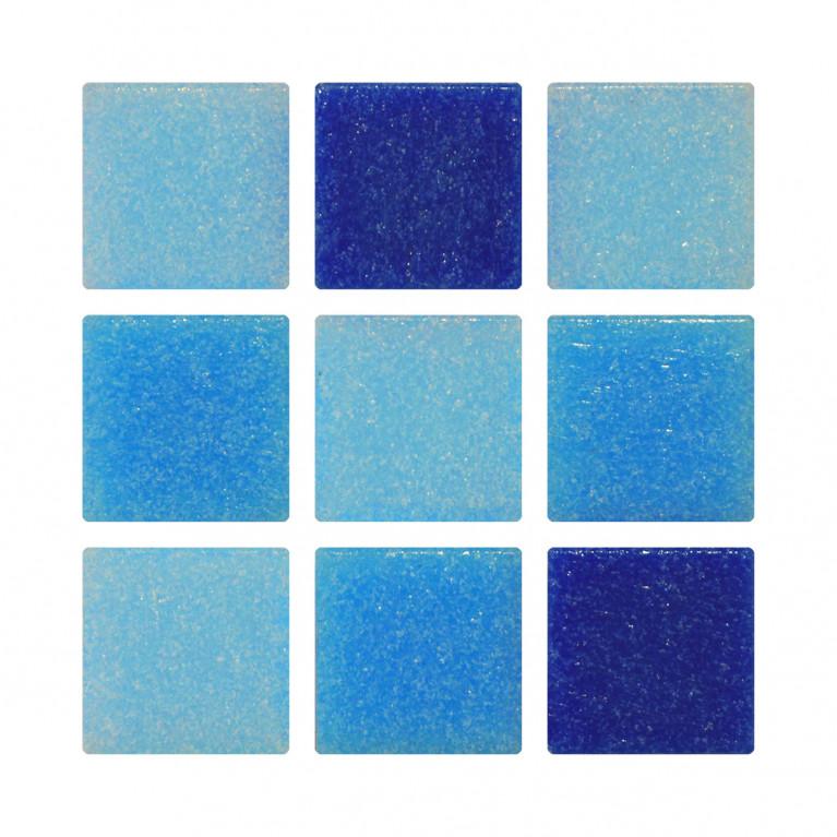 Venecita 2x2 - Mix Azul
